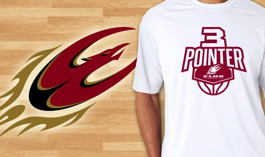 Elon University Basketball T-Shirt Design
