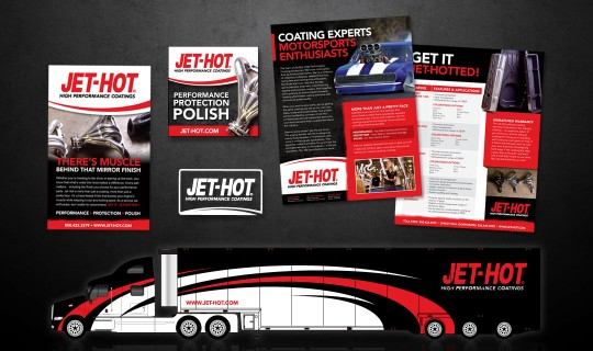 Jet-Hot High Performance Coatings Branding & Print Collateral