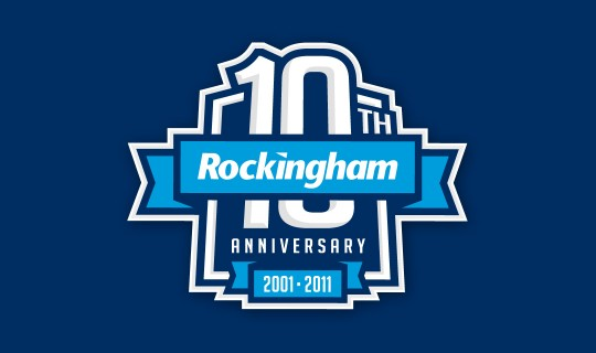 Rockingham Motor Speedway 10th Anniversary Logo Design