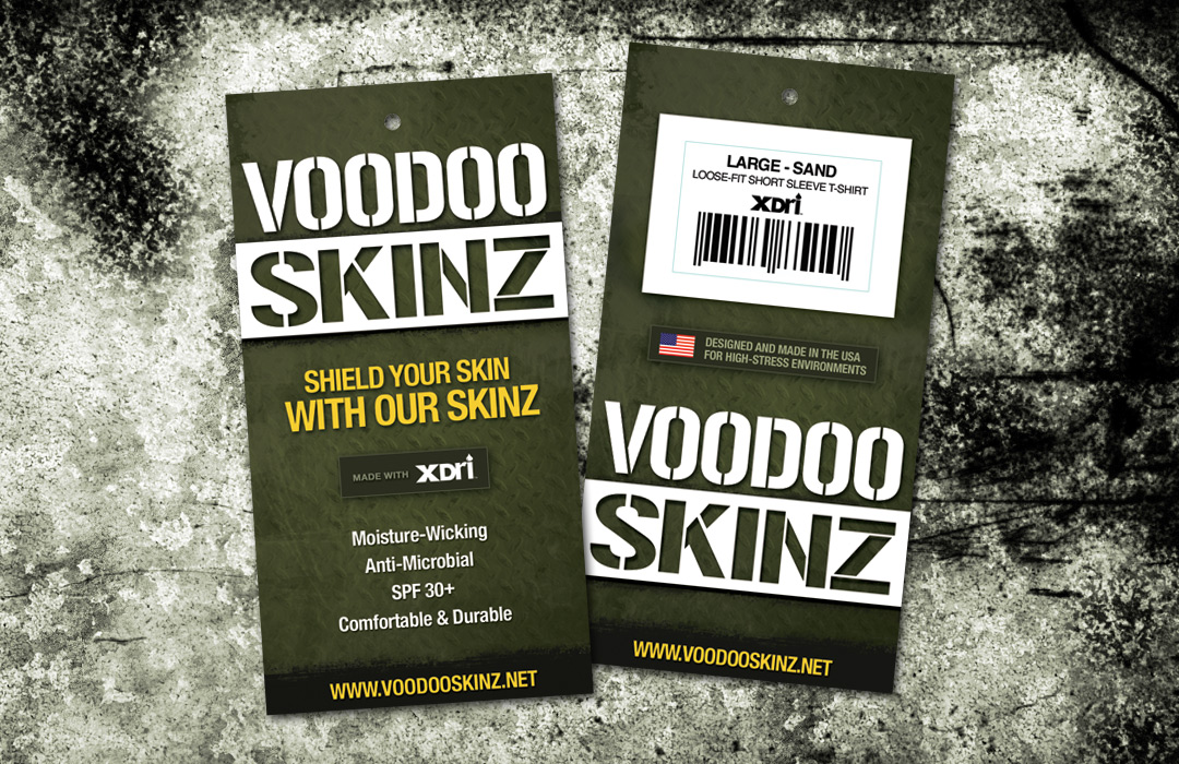 VooDoo Skinz Hang Tag Design | Apparel Design