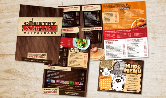 Country Kettle Restaurant Logo & Menu Design