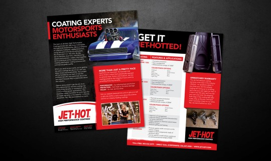 Jet-Hot Sell Sheet Design