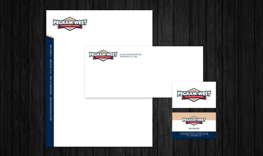 Pegram West Stationery Design