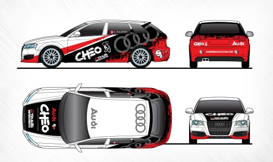 Audi Rally Car Paint Scheme-Design
