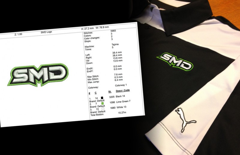 SMD Custom Embroidered Apparel
