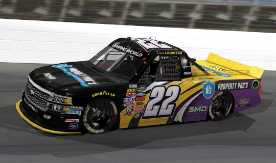 Faith Motorsports NASCAR Camping World Truck Series Paint Scheme Design Rendering