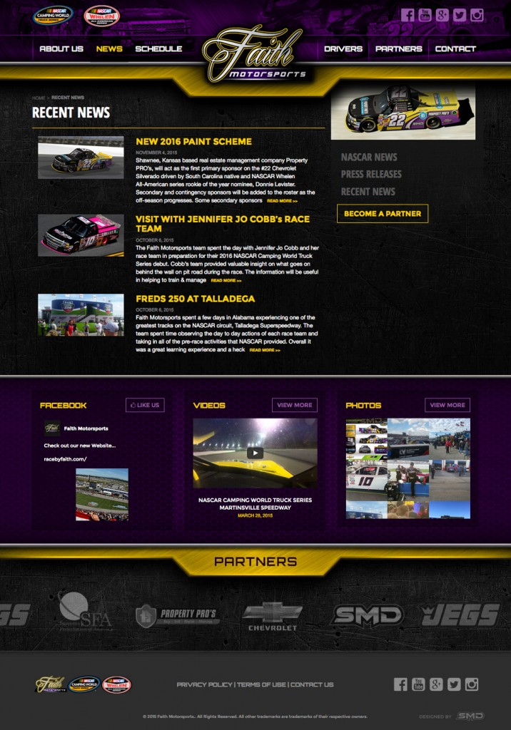 Faith Motorsports Interior News Page
