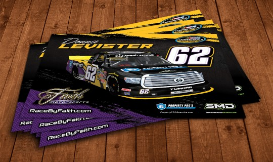 Property Pros NASCAR hero card design
