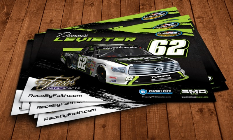 SMD NASCAR hero card design