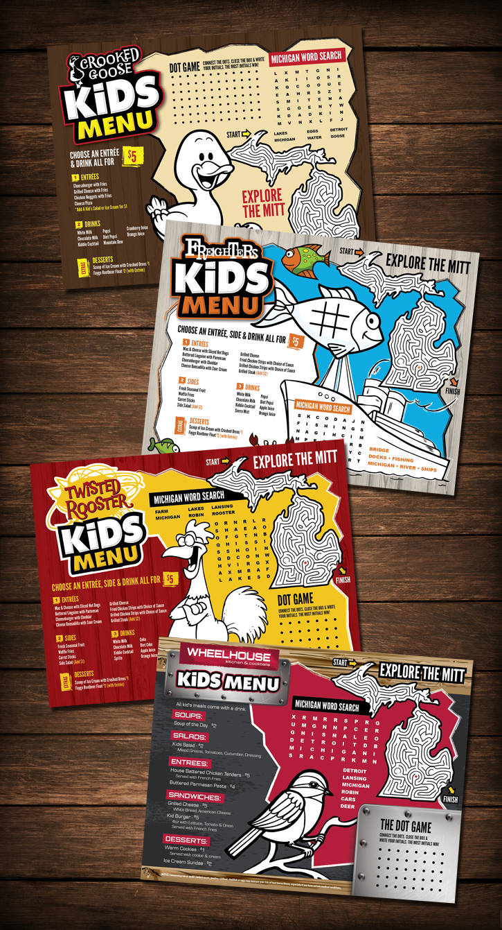 stacked kids menu designs shawn magee design graphic design