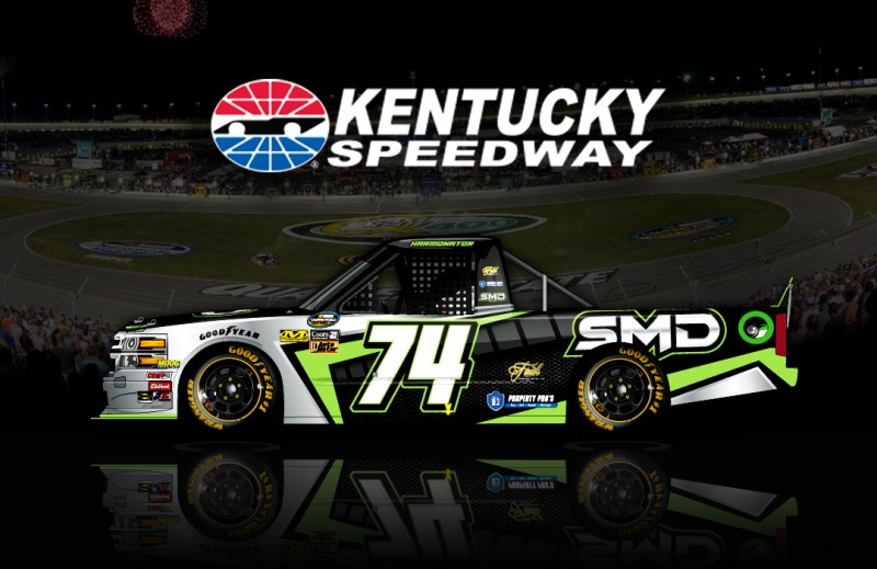 No. 74 SMD Chevy racing at Kentucky Speedway