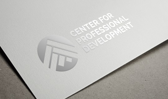 Center for Professional Development Logo on silver foil