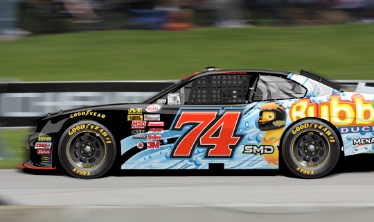 NASCAR Xfinity Paint Scheme Design for #74 Mike Harmon