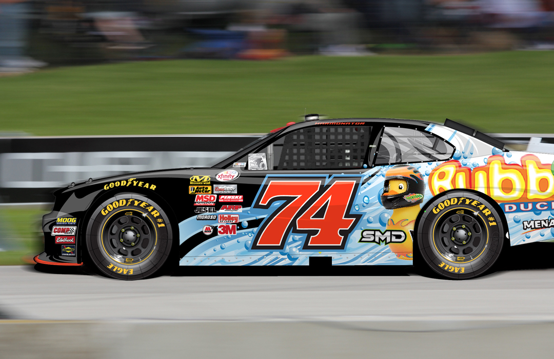 NASCAR Xfinity Paint Scheme Design   #74 Mike Harmon   SMD