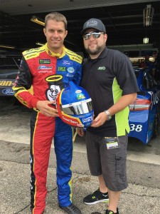 David Ragan with Shawn Magee at Michigan International Speedway