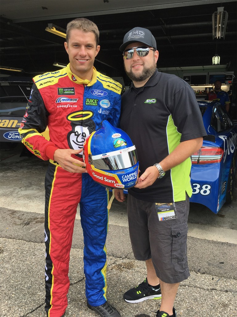 David Ragan with Shawn Magee at Michigan International Speedway