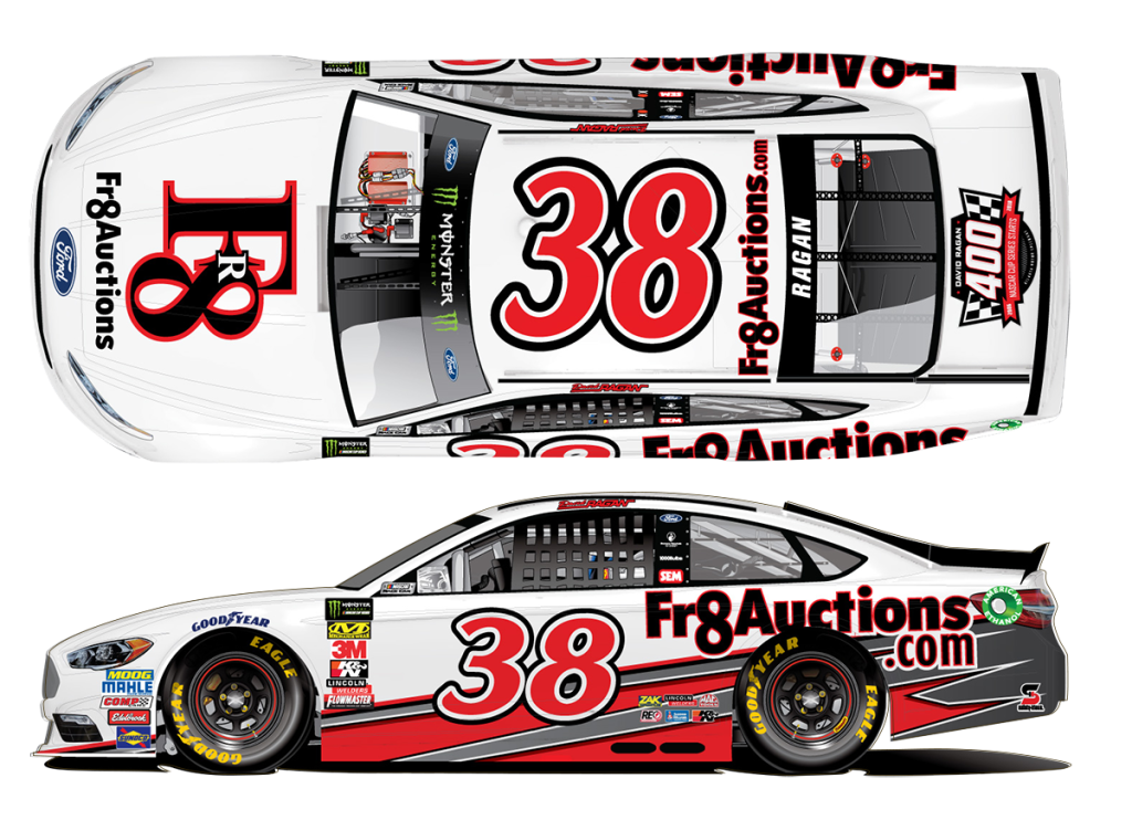 #38 David Ragan - 400th NASCAR Cup Series Start Logo - Atlanta Motor Speedway