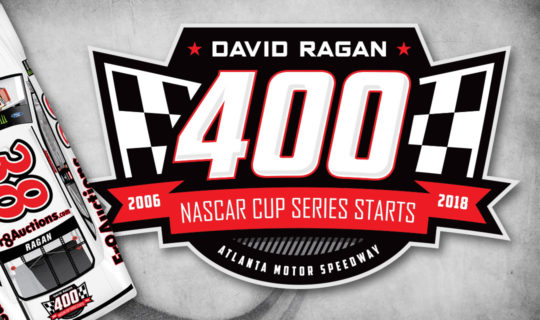 David Ragan 400th Cup Series Start logo design - NASCAR