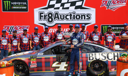 Fr8Auctions Pole Winner Kevin Harvick at Talladega in April 2018