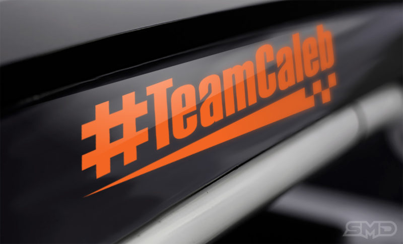 #TeamCaleb decal design for NASCAR race at Indy