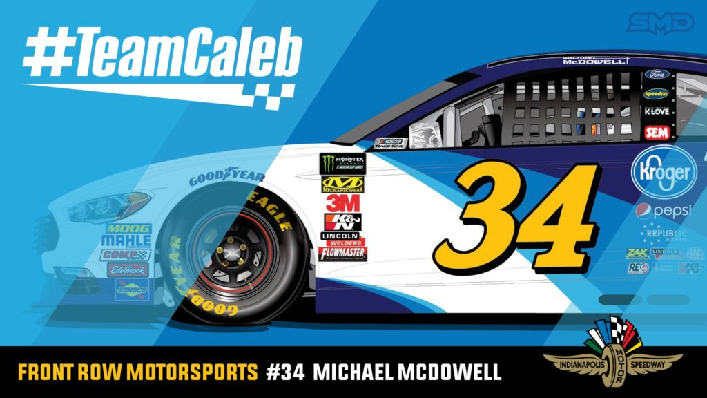 Michael McDowell Indianapolis Motor Speedway NASCAR