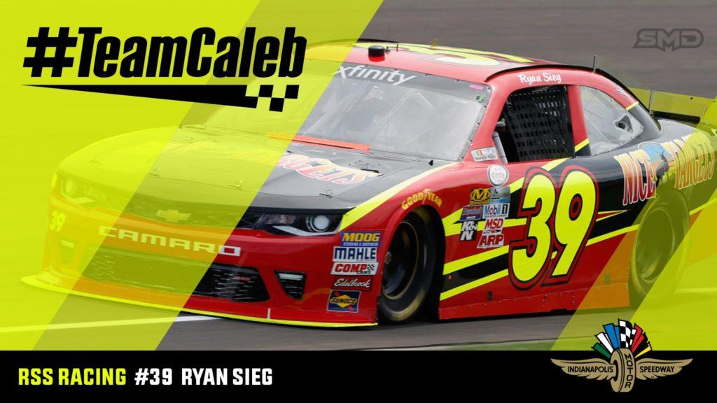 Ryan Sieg Indianapolis Motor Speedway NASCAR