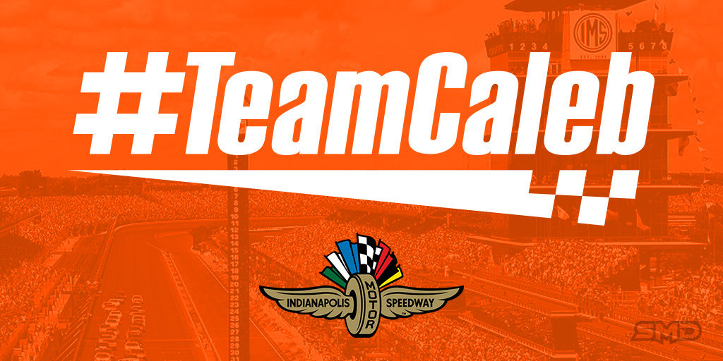 #TeamCaleb decal to run at NASCAR race at Indy