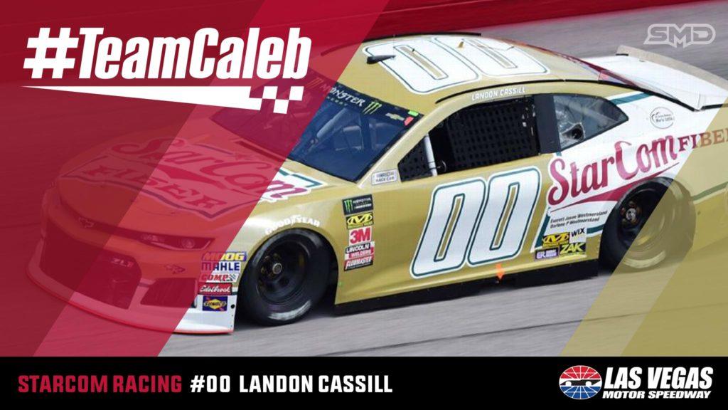 Landon Cassill StarCom Racing #TeamCaleb Las Vegas Motor Speedway