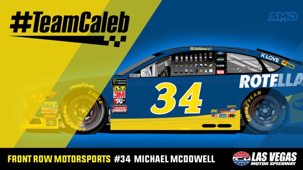 Michael McDowell Front Row Motorsports #TeamCaleb Las Vegas Motor Speedway