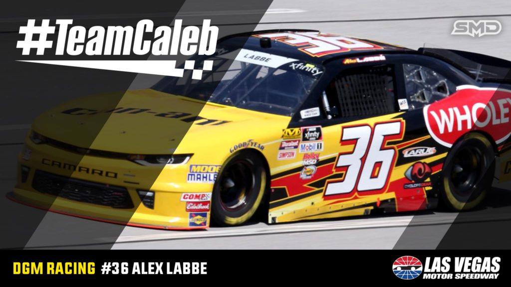 Alex Labbe DGM Racing #TeamCaleb Las Vegas Motor Speedway
