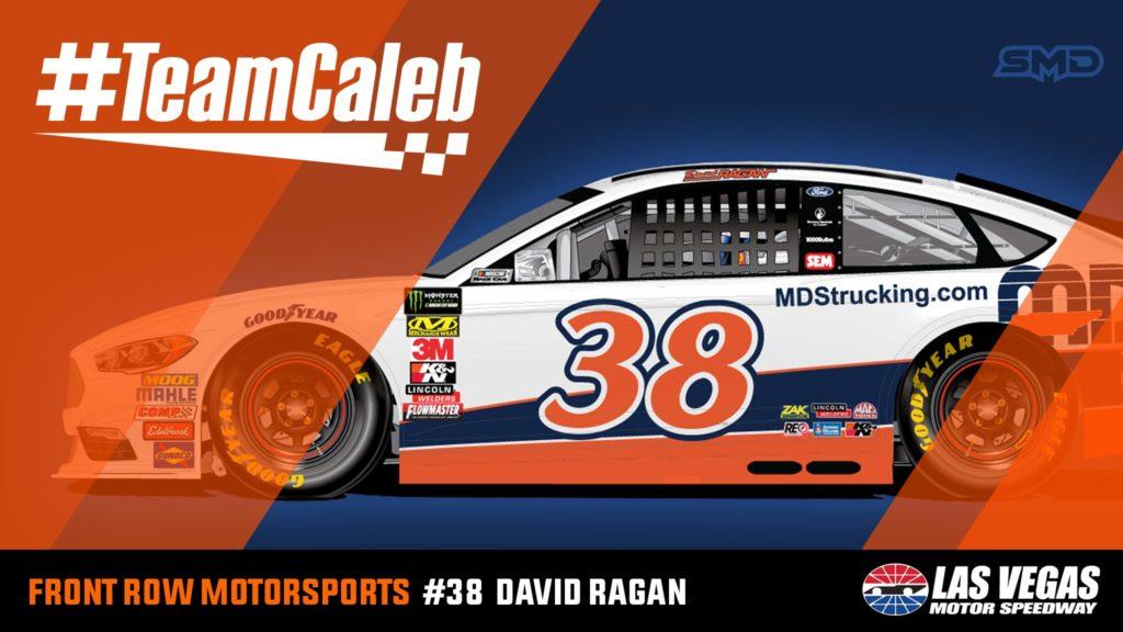 David Ragan Front Row Motorsports #TeamCaleb Las Vegas Motor Speedway