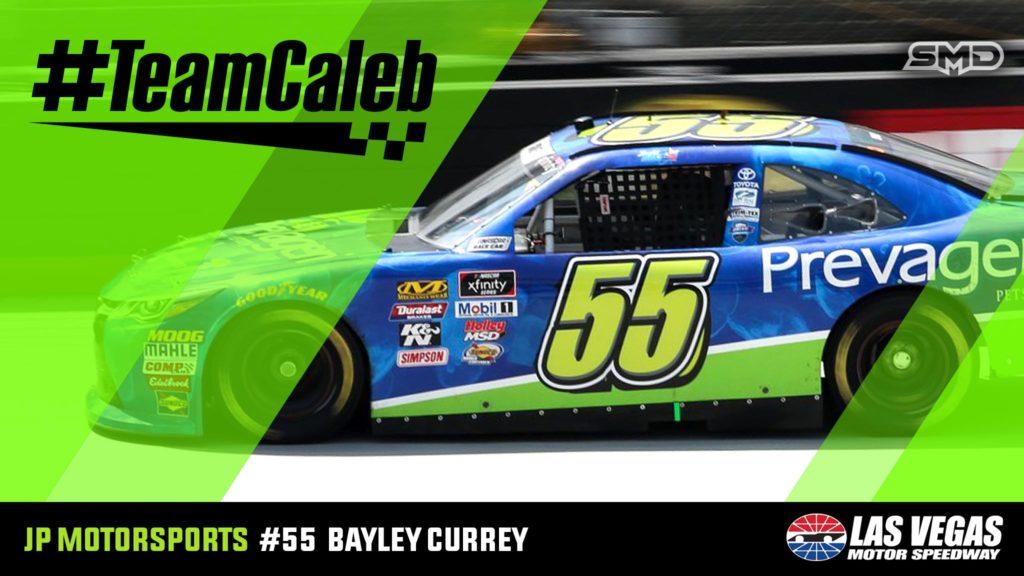 Bayley Currey #TeamCaleb JP Motorsports Las Vegas Motor Speedway