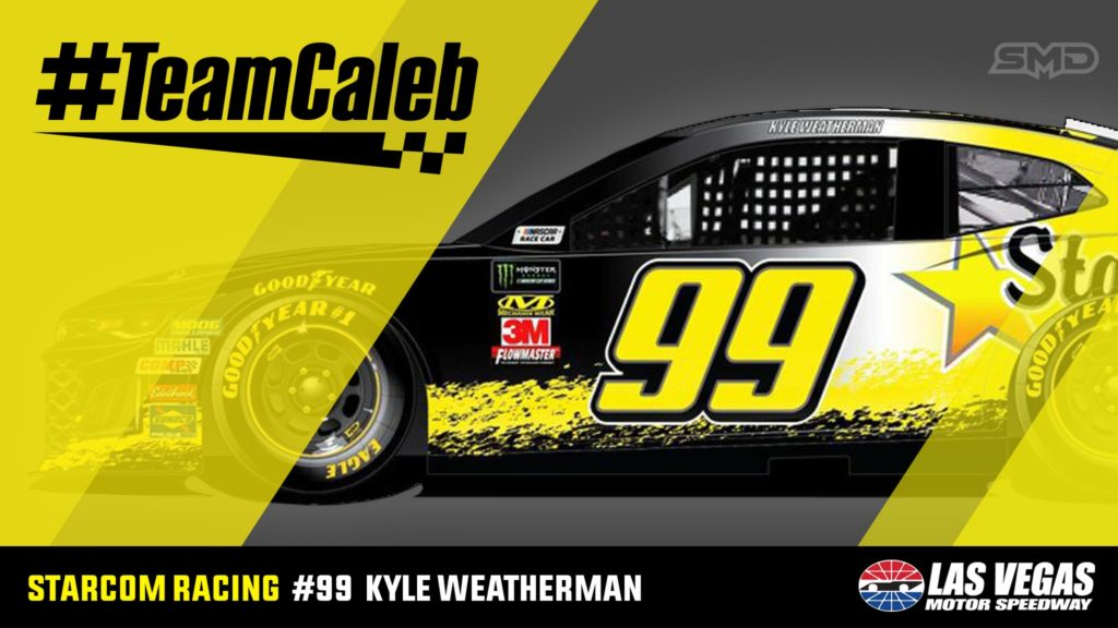 Kyle Weatherman StarCom Racing #TeamCaleb Las Vegas Motor Speedway