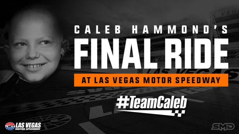 Caleb Hammond #TeamCaleb Decal Las Vegas Motor Speedway NASCAR