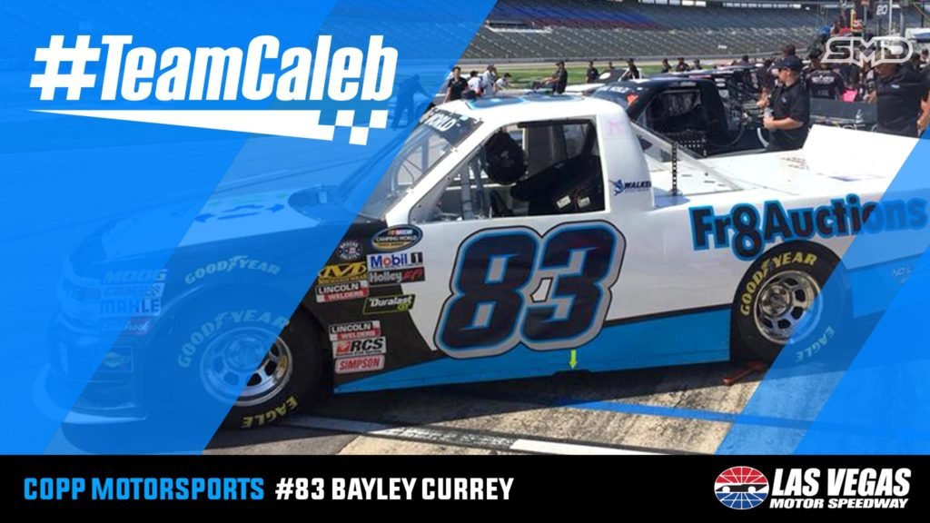 Bayley Currey NASCAR Camping World Truck Series #TeamCaleb decal