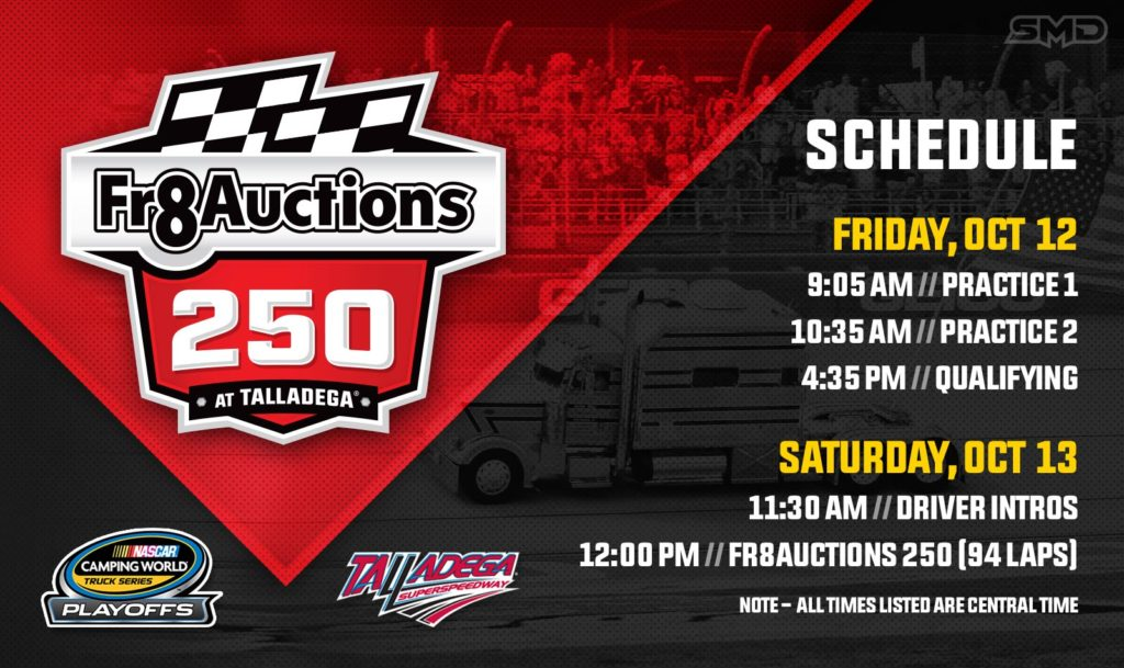 Fr8Auctions 250 Race Schedule - Talladega