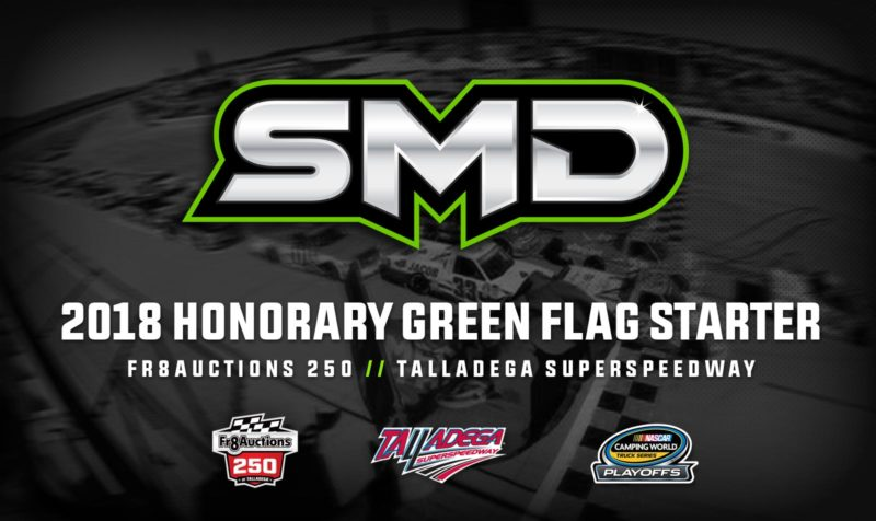 SMD to serve as honorary green flag starter for the Fr8Auctions 250 at Talladega