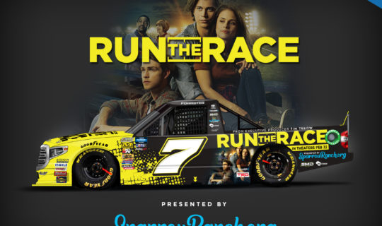 Run The Race - A Tim Tebow movie to serve as primary sponsor in NASCAR race.
