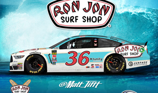 Ron Jon Surf Shop on the #36 of Matt Tifft at Daytona